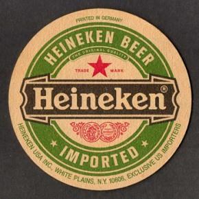 heineken beercoaster
